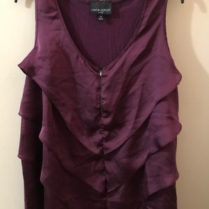 Cynthia Rowley plum purple Tank-Top